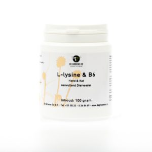 L-lysine en B6 hond kat